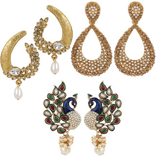 Jewels Guru Exclusive Combo 3 Earrings. 1 9 17 m31