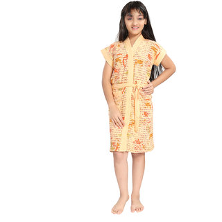 Be You Peach Letter Print Kids Bath Robe