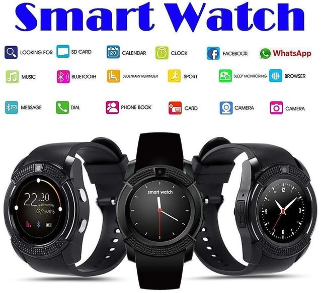 Lionix V8 Sports Bluetooth Smart Watch, with Sports Fitness Tracker SIM  Card and TF Card Slot supported