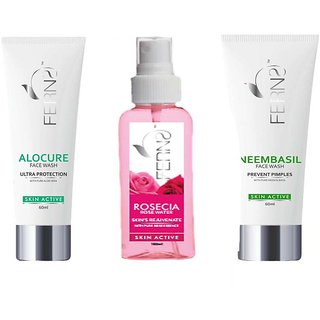 Ferns Aloe Vera Face Wash Neem Face Wash and Rose Water