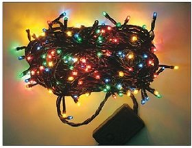 Flickering Multi-Coloured Rice Lights for All Festivals/ Occasions 10mtr (1Pc)