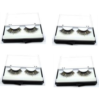 4 Pairs Black Artificial Eyelashes Attractive Long False Eyelashes