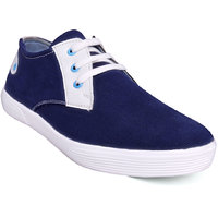 KRAAZA NEW BLUE AND WHITE DERBY CASUAL SHOES K13B28