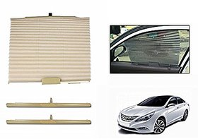 S4D Car Auto Folding Sunshades Curtains Beige (Set Of 2 peices) For BMW 3 Series GT