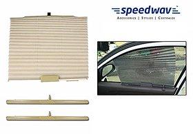 S4D  Car Auto Folding Sunshades Curtains Set Of 2-BEIGE