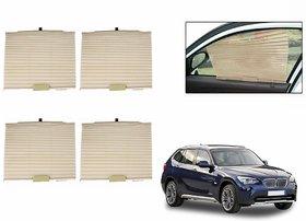 S4D  Car Auto Folding Sunshades Curtains BEIGE Set Of 4-BMW X1