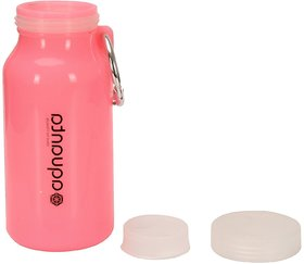 S4D Silicon Foldable Water Bottle by MoANaRetail (Colors Available  Pink, Blue , Green)