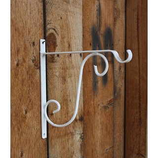 L Bracket-Wrought Iron White color (3Cm X 27Cm X 27Cm) - Minerva Naturals