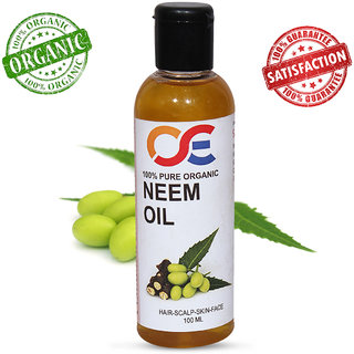 OSE Cold Pressed Unrefined Virgin Neem Oil For Hair-Scalp-Skin-Face-Nails- 100 ml