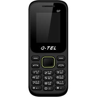 Q-Tel Q7 Mobile Phone 1.8 Bright Display 800 mAh Battery Wirefree FM BlueTooth Multiple Languages MADE IN INDIA