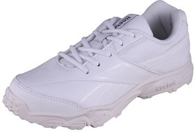 Reebok Racer White Lace Sports Shoes