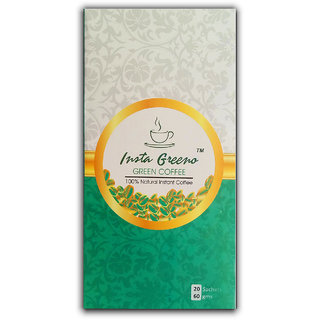 Insta Greeno Instant Green Coffee 20 Sachets 60g - Helps Weight Loss