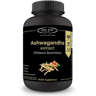 Sinew Nutrition Ashwagandha General Wellness Tablets (60 No.) Anxiety Relief and Stress Support Natural Supplement