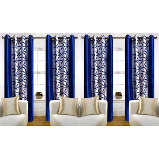 Angel homes Printed Window Curtain Set Of 4(4x5)