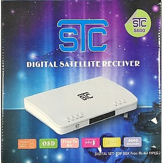 STC S-600 DD Free Dish Branded MPEG-2 Set-Top Box - Lifetime Free TV  Channels