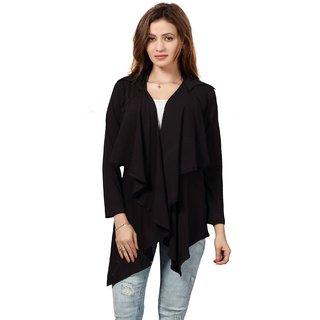 Bfly Women's Viscose Collar Shrug (Black)