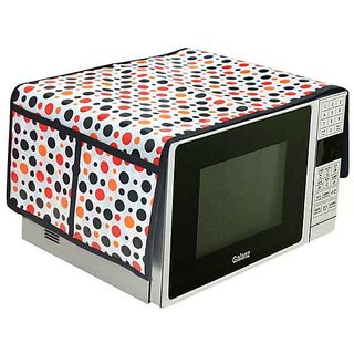 The Intellect Bazaar PVC Printed Microwave Oven Top Cover,Multi..(1434 inches)