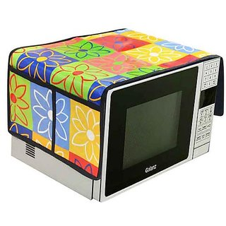 The Intellect Bazaar PVC Printed Microwave Oven Top Cover,Multi.(1434 inches)