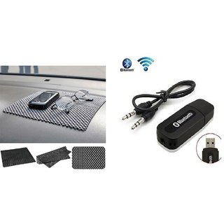 Combo for Car Bluetooth Device with Car Dashboard Non Slip Mat