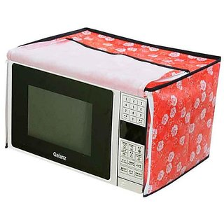 The Intellect Bazaar PVC Printed Microwave Oven Full Closure Cover For 20-23 Litre,Red