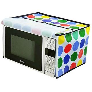 The Intellect Bazaar PVC Printed Microwave Oven Full Closure Cover For 20-23 Litre,Multi..