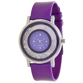 Mantra Purple Diamond Watch For Girls