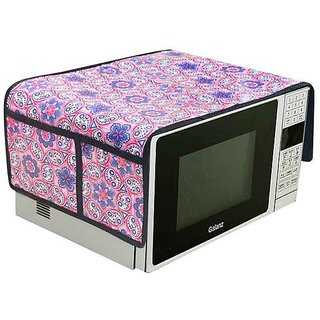 The Intellect Bazaar PVC Printed Microwave Oven Top Cover, Purple (14*34 inches)