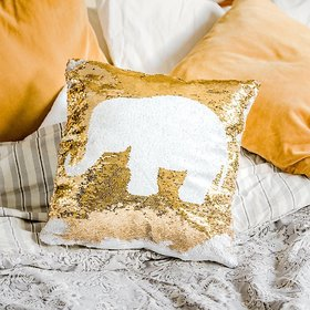 Mermaid Pillow Reversible Sequin Pillow that Changes color by Ankit - White Gold Elephant