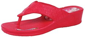 KAYSTAR Stylish & Trendy Look Red Wedges Heel Slipper F