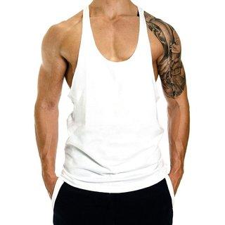 The Blazze  Men's Bodybuilding Gym Solid Color Tank Top Stringers