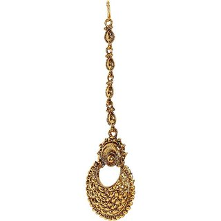 Penny Jewels Elegant Fashion Designer Golden Maangtikka For Women  Girls