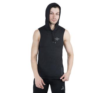 Army fit mens hood t-shirt