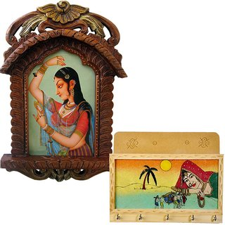 shoppingtara Buy Bani Thani Wooden Photo Frame n Get Key Magazine Holder Free