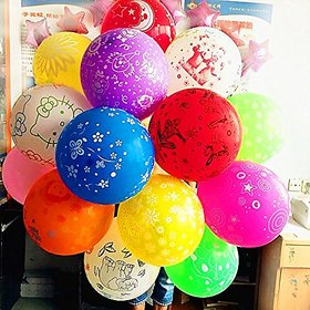 Multi color Multi print Party balloons Large size XL high Quality printed Balloons Birthday Balloons with assorted