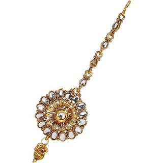 Penny Jewels Pleasant Fashion Designer Golden Wedding Maangtikka For Women  Girls
