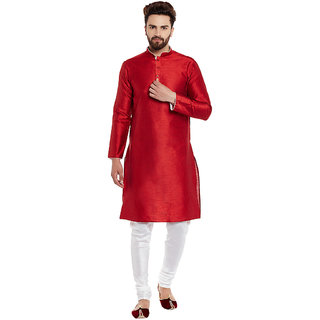 Larwa Men'S Wedding Kurta Pyjama Set With Flower Print