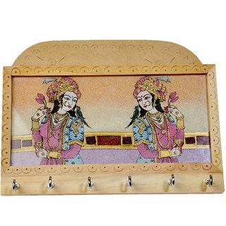 shoppingtara Gemstone Painting Magazine Keychain Holder Wooden Key Holder Gift