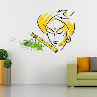 EJA Art Krishna Multicolor Removable Decor Mural Wall Stickers Sticker