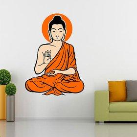 EJA Art Yogi Buddha Multicolor Removable Decor Mural Wall Stickers Sticker  Mural Wall Stickers Sticker