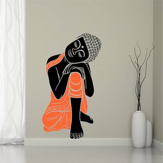EJA Art Sleeping Buddha Multicolor Removable Decor Mural Wall Stickers  Sticker Mural Wall Stickers Sticker
