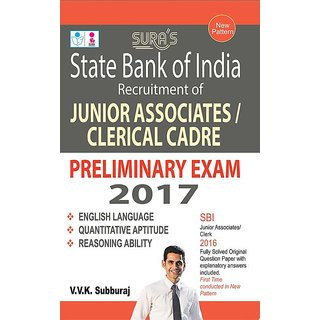 SBI Junior Associates  Clerical Cadre Prelims Exam Books 2017