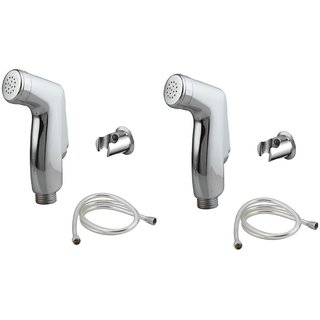 Kurvz Jaquar Health Faucet Abs With 1mtr Flexible Pvc Tube And Wall Hook Set Of 2