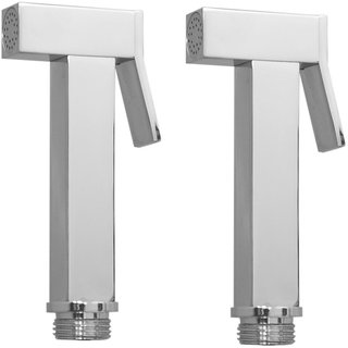 Kurvz square brass health faucet head chrome plated - pack of 2