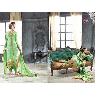 Kesari Arya Georgette Semi-Stitched Suit Green