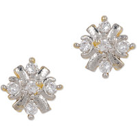 Delightful Gold Plated Stud AD Earring