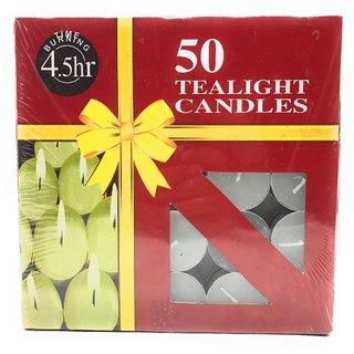 AuraDecor Pure Paraffin Wax Smokeless Multi purposes Tea Light Candles (Burning Time 4.5 hours, Set of 200)