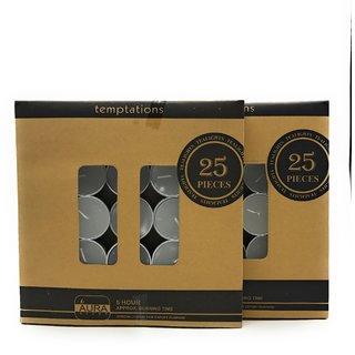 AuraDecor Pure Paraffin Wax Smokeless Multi purposes Tea Light Candles (Burning Time 5 hours, Set of 100)