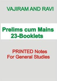 Vijiram and Ravi Prelims cum Mains Notes23 booklets For IAS