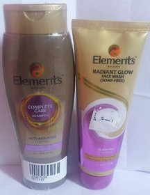 Complete care shampoo+radiant glow face wash