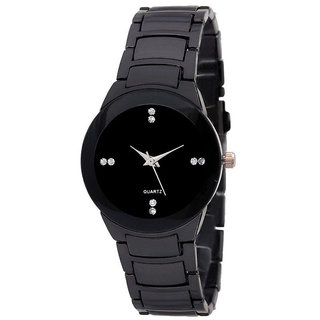 IIK Collection Collection of Full Black Luxury Analog Watch - For Women  Girls 6 MONTH WATRRANTY